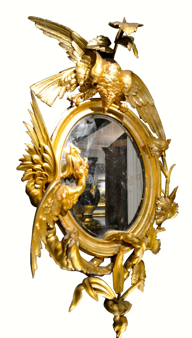 Pair of Venetian 18th-19th Century Rococo Dragon and Bird Mirrors and Consoles In Good Condition For Sale In Vancouver, British Columbia
