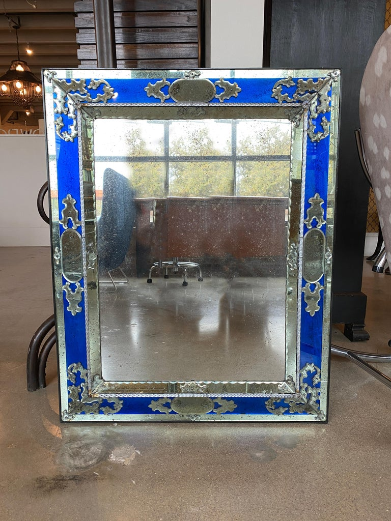 Pair of Venetian Mirrors, Italy, 1930s In Good Condition For Sale In Austin, TX