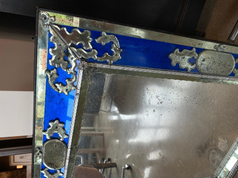 Mid-20th Century Pair of Venetian Mirrors, Italy, 1930s For Sale