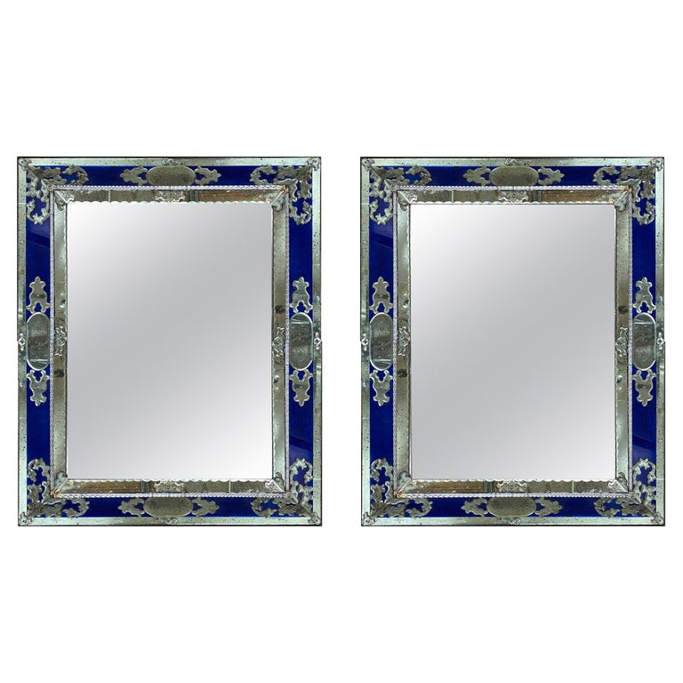 Pair of Venetian Mirrors, Italy, 1930s For Sale
