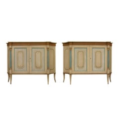 Pair of Venetian Style Hand Painted Sideboards by Baker