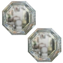 Venetian Style Hollywood Regency Octagon Mirror