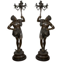 Pair of Venetian Torchières, Bronze, 19th-20th Century