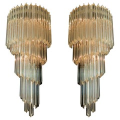 Pair of Venetian Wall Sconces, Murano, 1980s