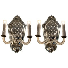Pair of Venetian Wall Sconces, France, Early 20th Century