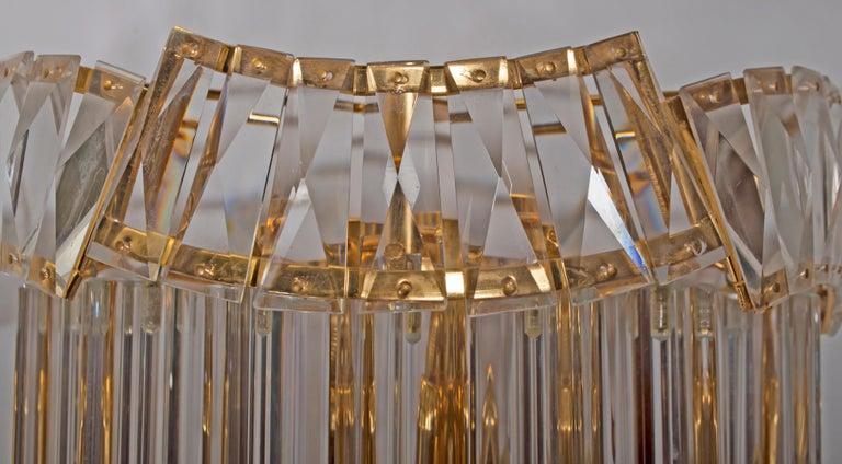 Late 20th Century Pair of Venini Midcentury Brass and Murano Glass