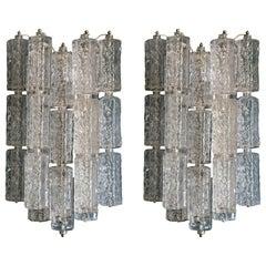 Pair of Venini Murano Glass Sconces