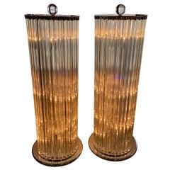 Pair of Venini Triedri Floor Lamps