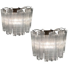 Pair Tronchi Sconces  Murano