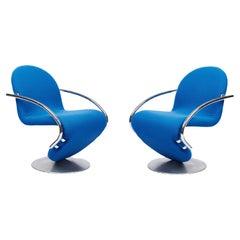 Pair of Verner Panton System 1-2-3 Swivel Armchairs