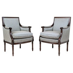 Pair of Very Fine Club Chairs by Hancock & Moore