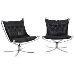Pair of Very Fine Falcon Chairs by Vatne Møbler in Sweden