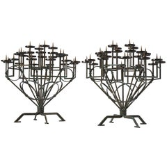 Pair of Very Large Church Candleholders