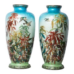 Pair of Very Large Japanese Cloisonné Vases