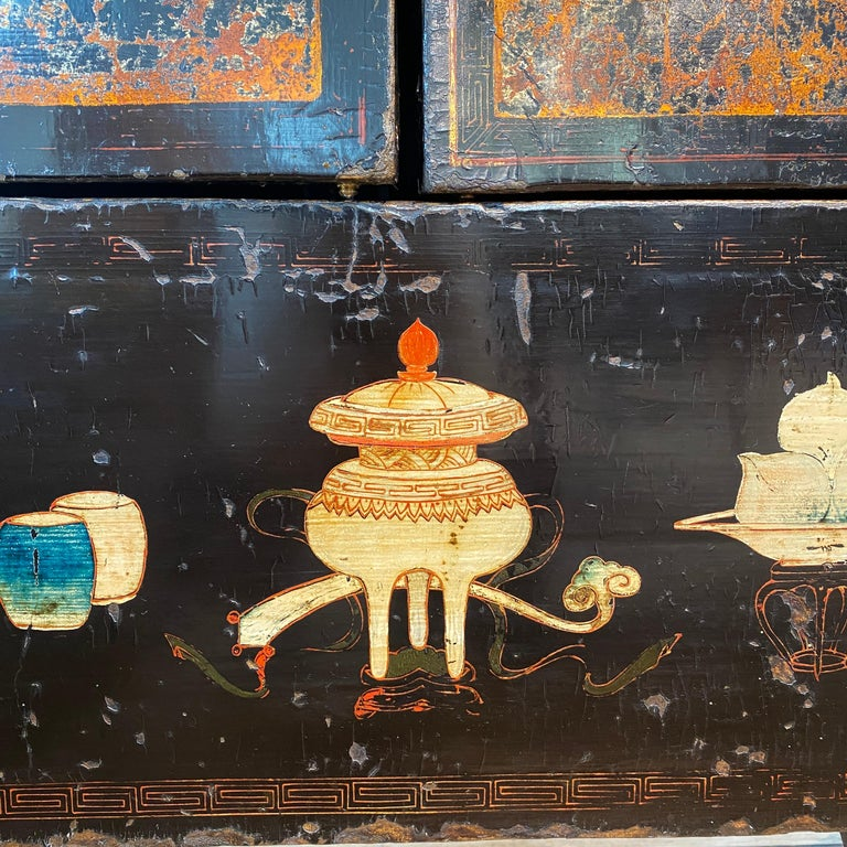 Pair of Very Unusual and Rare 18th Century Chinese Qing Dynasty Cabinets For Sale 12
