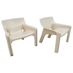 "Pair of Vico Magistretti ABS ""Vicario"" Armchairs for Artemide Milano, 1970s"
