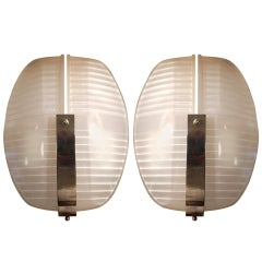 Pair of Vico Magistretti Lambda Sconces