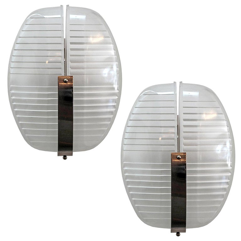 Pair of Vico Magistretti Wall Lights, 1960 For Sale