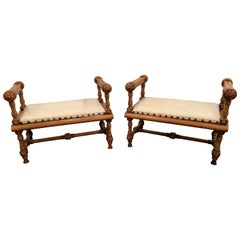 Pair of Victorian Antique Benches
