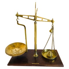 Pair of Victorian Antique Brass Scales