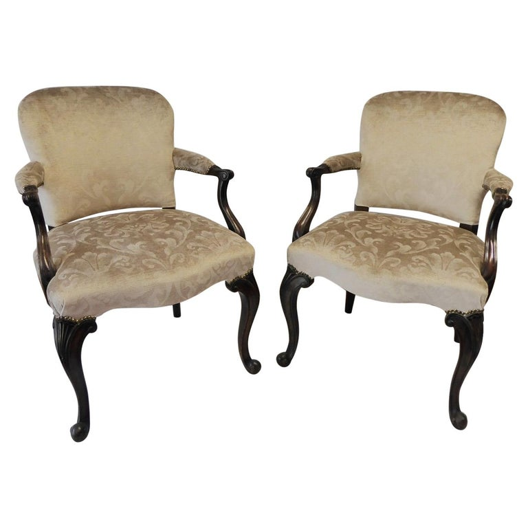 Pair of Victorian Antique Mahogany Chairs, 1880 For Sale - Pair Of Victorian Antique Mahogany Chairs, 1880 For Sale At 1stdibs