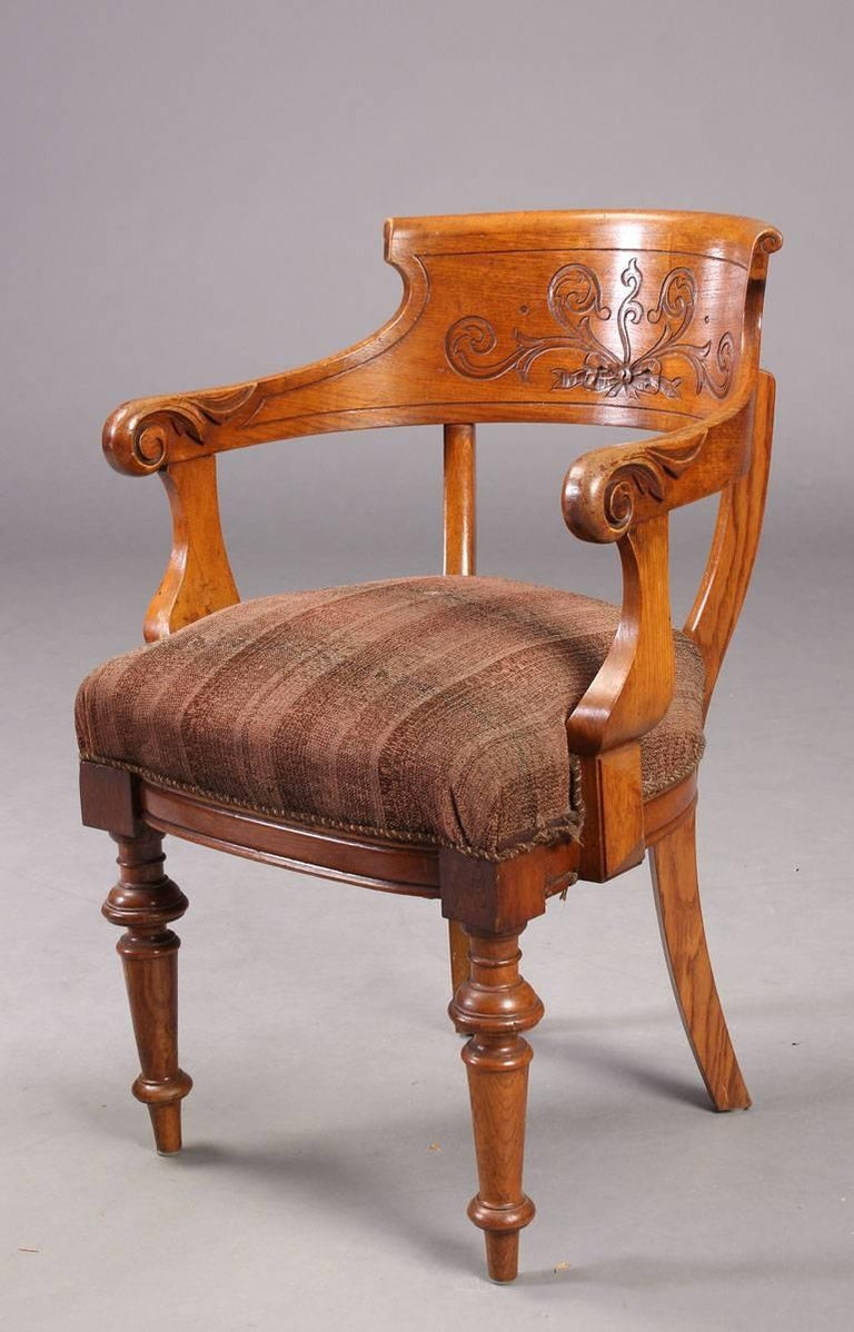 Danish Pair of Victorian Armchairs For Sale