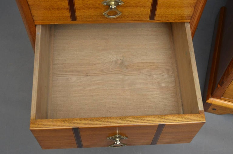 Pair Of Victorian Ash Bedside Drawers For 1