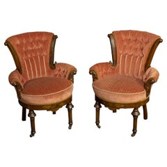 Pair of Victorian Boudoir Chairs