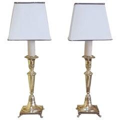 Paar Viktorianische Messing Kerzenständer
