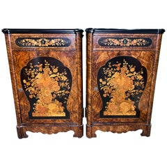 Pair of Victorian Inlaid Cabinets, 19th Century