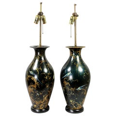 Pair of Victorian Japanned Table Lamps
