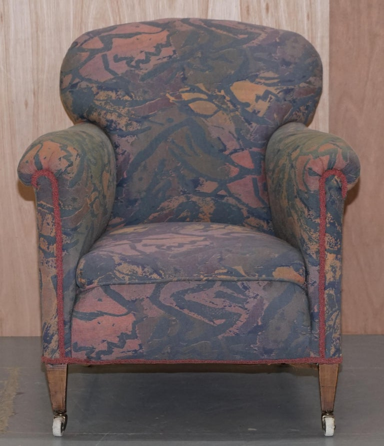 Pair of Victorian Mahogany Club Armchairs Inc Floral ...