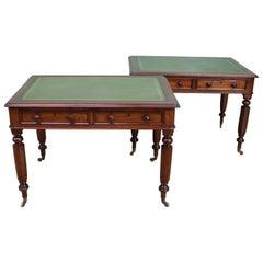 Pair of Victorian Mahogany Writing Tables