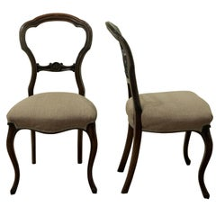 Pair of Victorian Side Chairs, circa 1860