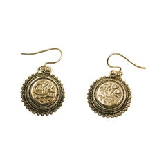Pair of Victorian Silver Earrings, Dated circa 1880