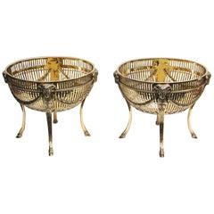 Pair of Victorian Silver Gilt Sweet Baskets, 1897, Thomas's of Bond Street