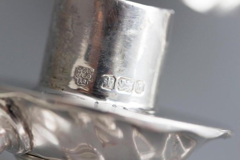 Pair of Victorian Silver Three-Light Candelabra Sheffield 1894 Hawksworth & Eyre For Sale 9