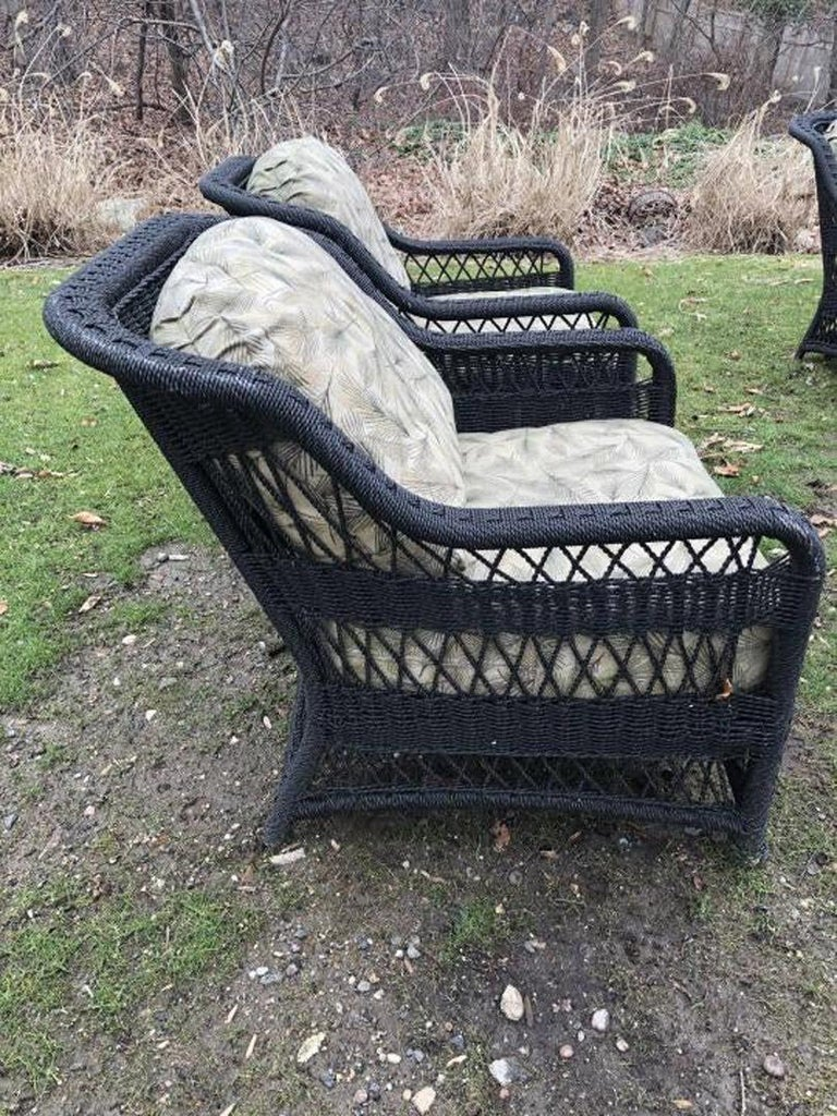 Pair of Victorian Style Outdoor Wicker Armchairs For Sale ...