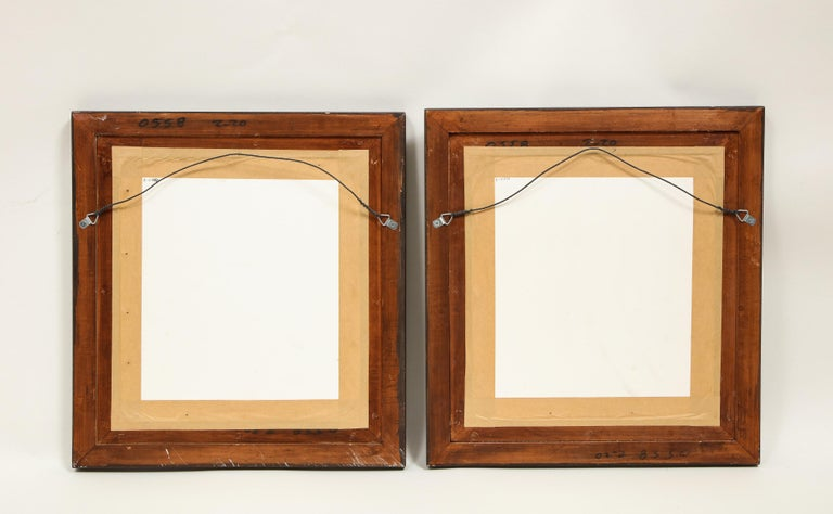 Pair of Victorian Verre Églomisé Paintings of Birds In Good Condition For Sale In New York, NY