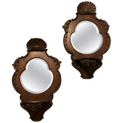 Pair of Victorian Wall Mirrors Each in a Heart Shape