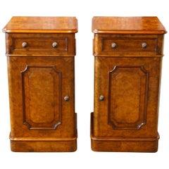 Pair of Victorian Walnut Nightstands