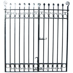 Pair of Victorian Wrought Iron Driveway Gates
