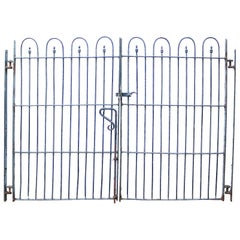 Pair of Victorian Wrought Iron Garden Gates