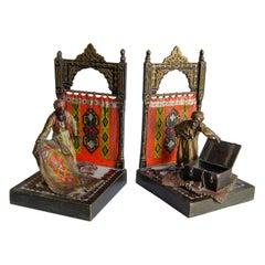 Pair of Vienes Bronze Bookend