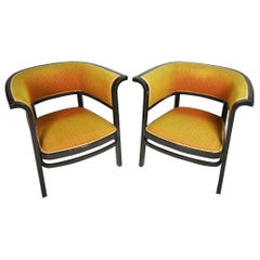 Pair of Vienna Secession Armchairs by Marcel Kammerer, Thonet No. 6534, 1910s