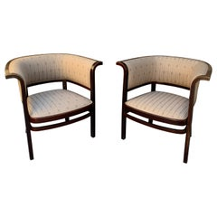 Pair of Vienna Secession Armchairs by Marcel Kammerer, Thonet No. 6534