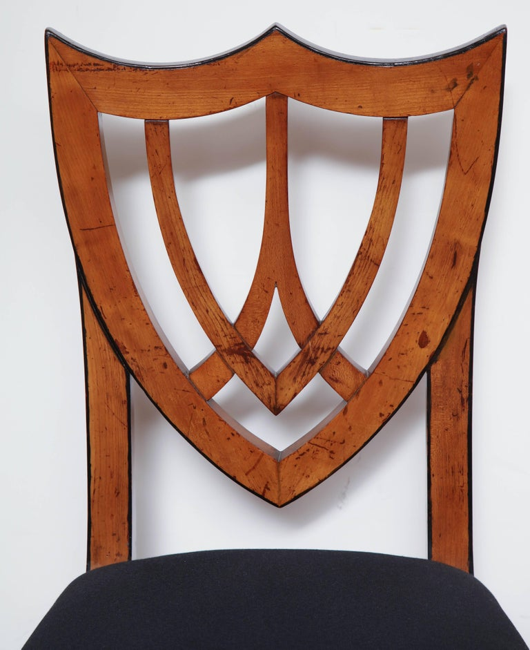 Pair of Viennese Side Chairs, circa 1830 In Good Condition For Sale In New York, NY