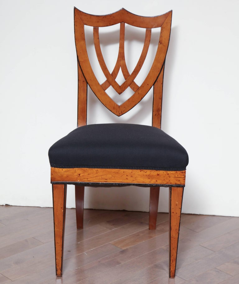 Pair of Viennese Side Chairs, circa 1830 For Sale 4