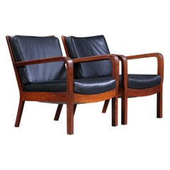 Pair of Vilhelm Lauritzen Low Armchairs in Cuba Mahogany, 1928-1930