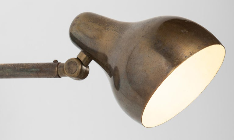 Pair of Vilhelm Laurtizen Wall Lights by Louis Poulsen, Denmark, circa 1942 In Good Condition For Sale In Culver City, CA